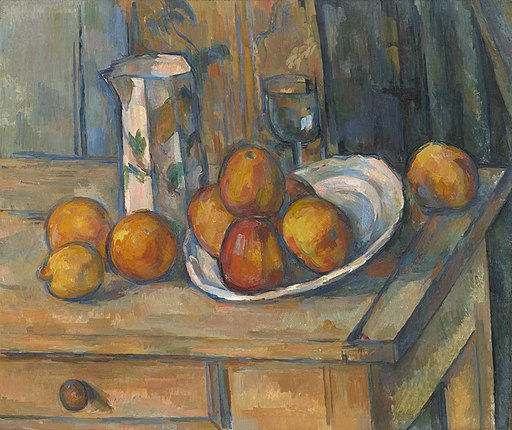 Paul Cézanne - Nature morte avec du lait et des fruits (National Gallery of Art)