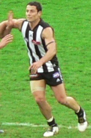 Paul Licuria - Paul Licuria playing for Collingwood during the 2006 AFL Season