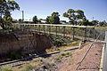 Pedestrian bridge over the Yanco–Griffith railway line in Leeton (1).jpg