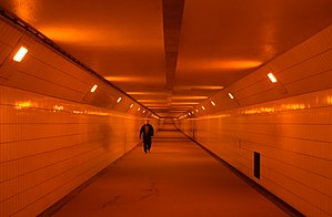 Maastunnel - Pedestrian section of the Maastunnel