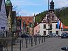 Market square of the city of Pegnitz