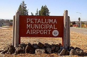 Petaluma Municipal Airport - sign outside Petaluma Municipal Airport