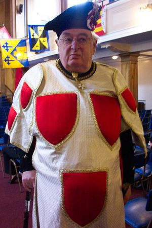 Peter Drummond-Murray of Mastrick - Peter Drummond-Murray of Mastrick at the 2006 International Congress of Genealogical and Heraldic Sciences. He is shown wearing the tabard of the arms of the Earl of Erroll.