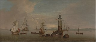The Opening of the First Eddystone Lighthouse in 1698