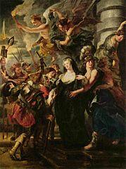 Gemäldezyklus für Maria de' Medici, Königin von Frankreich, Szene: Die Königin flieht aus Blois