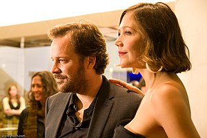 Peter Sarsgaard - Sarsgaard and Maggie Gyllenhaal at the New York premiere of An Education in October 2009