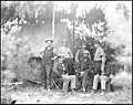 Petersburg, Va., vicinity. Maj. Thomas T. Eckert (seated, left) and others of U.S. Military Telegraph Corps LOC cwpb.03997.jpg