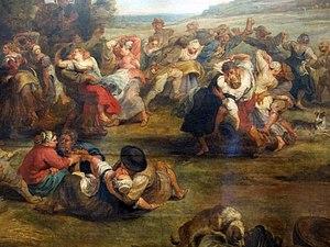 The Village Fête (Rubens) - Image: Petrus paulus rubens, la kermesse (nozze nel villaggio), 1635 38 ca. 04