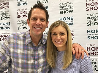 HGTV - At the February 23–25, 2018, Capital Remodel and Garden Show at the Dulles Expo Center, (l to r) Chris Lambton and Peyton Lambton