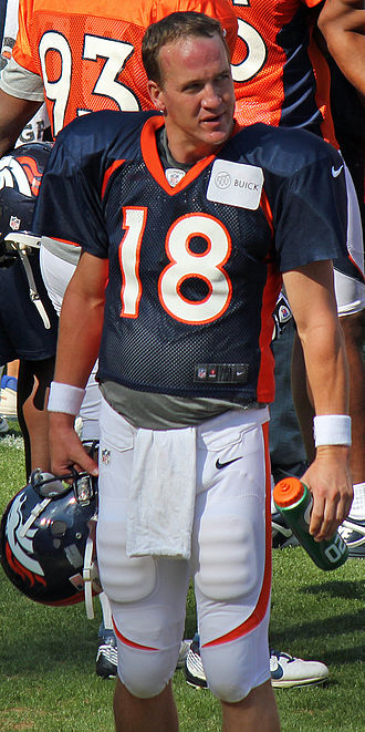 Number (sports) - Quarterbacks, like Peyton Manning, generally possess a squad number from 1 to 19