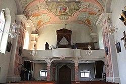 Pfarrkirche Kirchbach (Gailtal) - Blick zu Orgelempore.JPG
