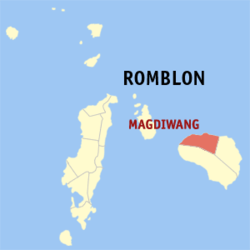 Map of Romblon showing the location of Magdiwang
