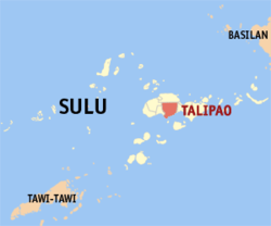Map of Sulu with Talipao highlighted
