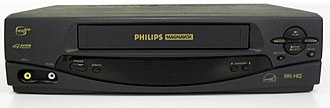 Videocassette recorder - A typical late-model Philips Magnavox VCR