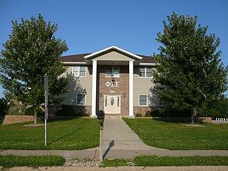 Phi Sigma Sigma - Epsilon Psi Chapter house at Western Illinois University