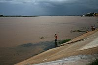 Il Mekong a Phnom Penh, in Cambogia