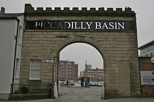 Northern Quarter (Manchester) - Piccadilly Basin entranceway (to a car park).