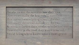 Picton Clock Tower - Image: Picton Clock inscription 2