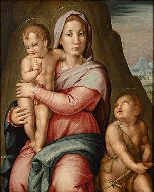 Pier Francesco Foschi - Image: Pier Francesco di Jacopo Foschi Virgen con el Niño y San Juanito col par