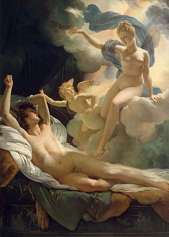 Iris (mythology) - Morpheus and Iris by Pierre-Narcisse Guérin (1811)