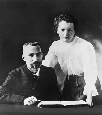 Marie Curie - Image: Pierre Curie (1859 1906) and Marie Sklodowska Curie (1867 1934), c. 1903 (4405627519)