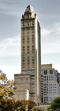 Pierre Hotel from Looking towards Fifth Avenue from Central Park during Autumn, NYC.jpg