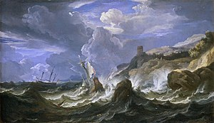 Pieter Mulier II - A Ship Wrecked in a Storm off a Rocky Coast