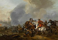 Pieter Wouwerman - Cavalry Skirmish with Foot Soldiers.jpg