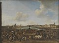 Pieter Wouwerman - View of Paris seen from the Place Dauphine - KMSsp504 - Statens Museum for Kunst.jpg