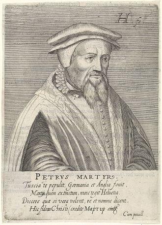 Peter Martyr Vermigli - 1599 engraving by Hendrik Hondius{{nbsp}}I