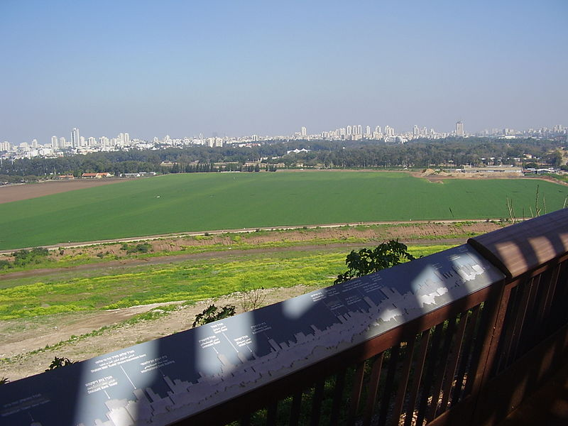 מרפסת התצפית בפארק אריאל שרון
