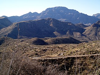 Chinati Mountains - Pinto Canyon Road in the Chinati Mountains