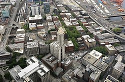 Pioneer Square from Columbia Center.jpg