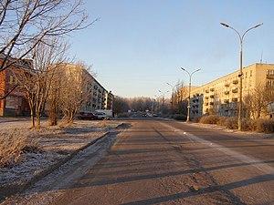 Pitkyaranta - A street in Pitkyaranta