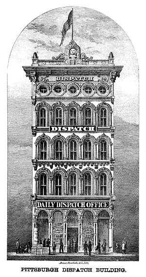 Pittsburgh Dispatch - The Pittsburgh Dispatch Building, 1876