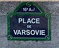 Place de Varsovie (Paris) - panneau de rue.jpg