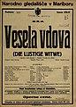 Plakat za predstavo Vesela vdova v Narodnem gledališču v Mariboru 24. marca 1927.jpg