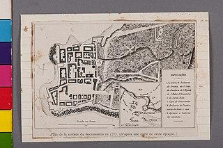 Plan de La Colonie du Sacramento em 1777. (D' Après Une Carte Cette Époque)