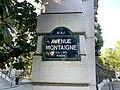 Plaque Avenue Montaigne - Paris VIII (FR75) - 2021-05-31 - 2.jpg