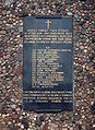 Plaque at Parish of the Sacred Heart of Lord of Jesus in Gdynia. Commemorating of Franciscans and Jesuits murdered during the Second World War.jpg