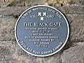 Plaque on the Black Gate - geograph.org.uk - 889163.jpg