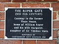 Plaque on the wall for The Roper Gate - geograph.org.uk - 778557.jpg