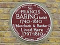 Plaque to Sir Francis Baring - geograph.org.uk - 1496820.jpg