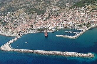 Plomari - Aerial view of Plomari.