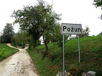 Požun, Croatia - Image: Požun (Ozalj) 1