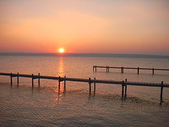 Lake Neusiedl - Image: Podersdorf nordstrand abendstimmung 1