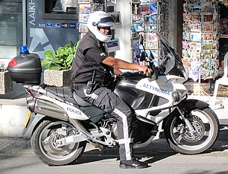 Cyprus Police - Image: Police motorcycle Cyprus