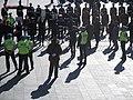 Police near protesters.JPG