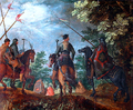 Polish hussars marching in the wood.PNG