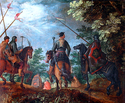 Roelant Savery: Polish Cavalry Marching through the Woods